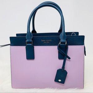 Kate spade medium Cameron satchel lavender navy